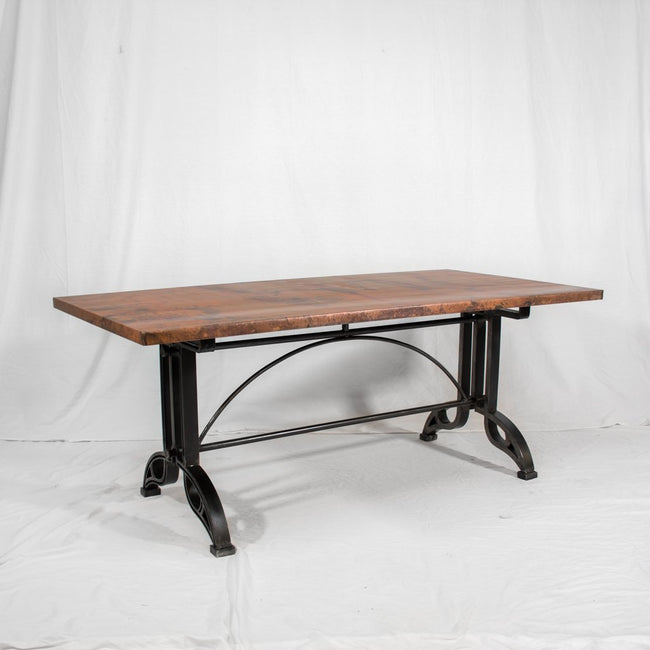 Copper & Iron Dining Table Amherst