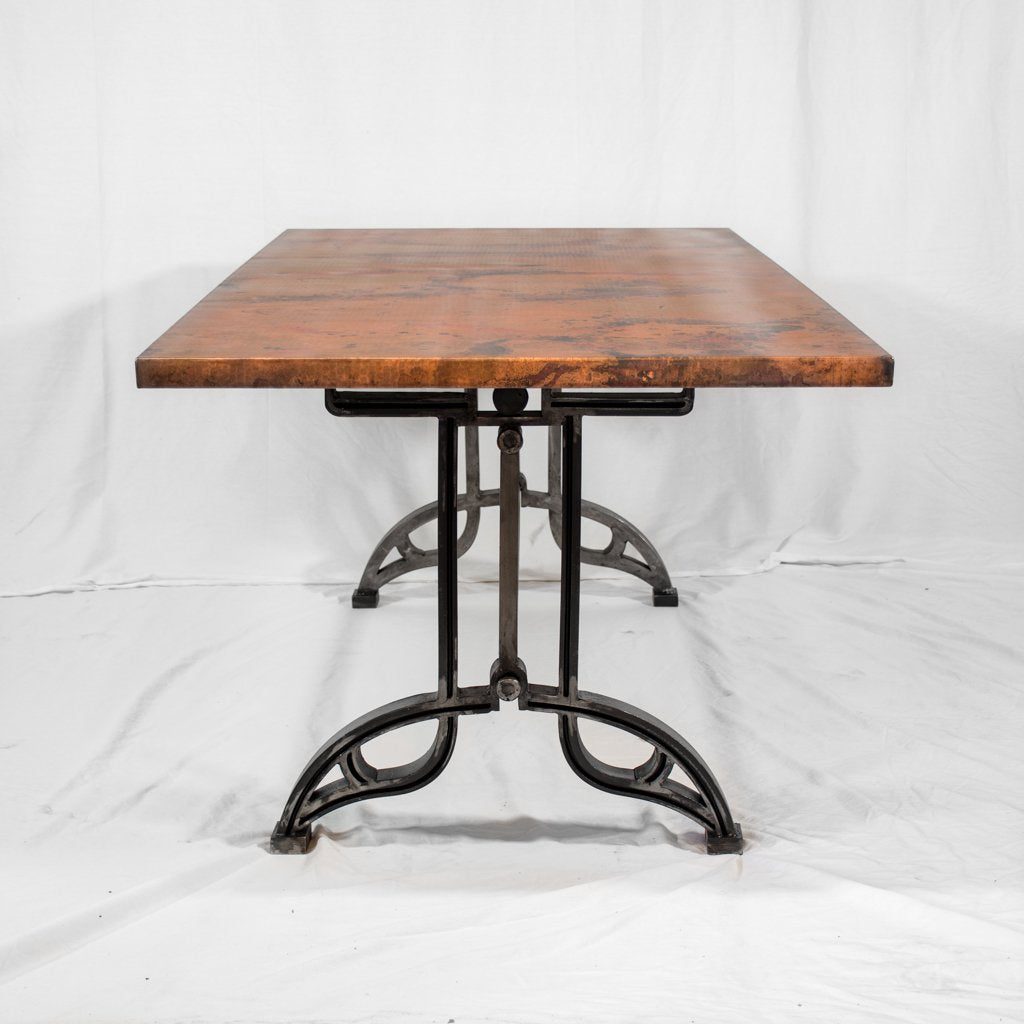 Rectangle Copper Dining Table