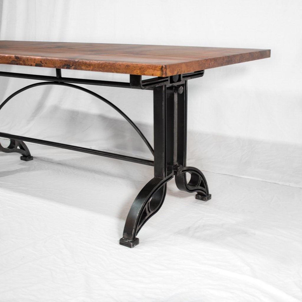 Copper and Iron Dining Table
