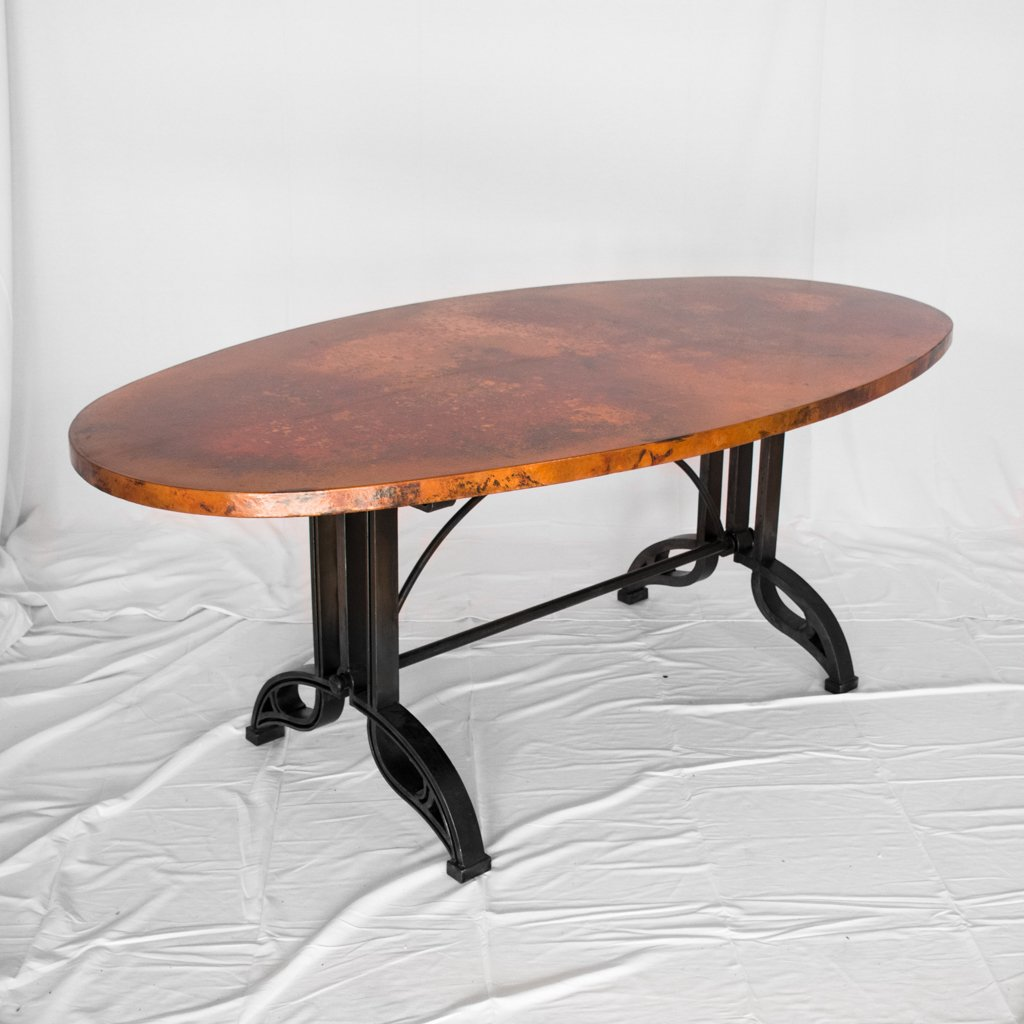 Amherst Copper and Iron Dining Table