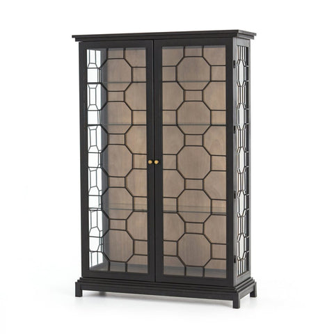 Spencer Curio Cabinet - Drifted Black