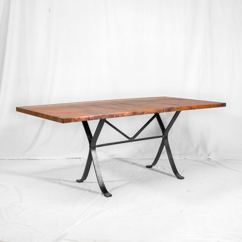 Amherst Oval Copper & Iron Dining Table