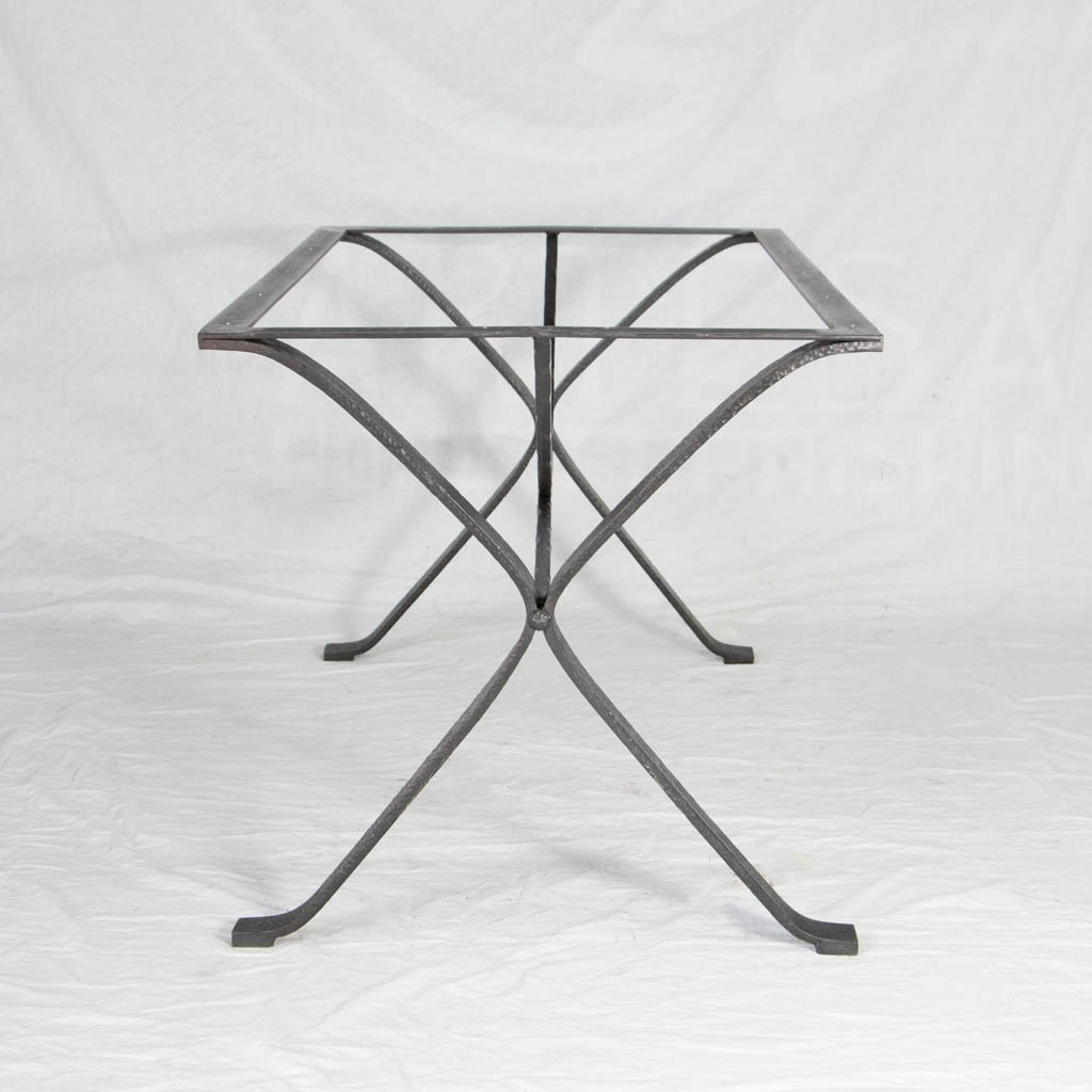 Hand crafted iron table base