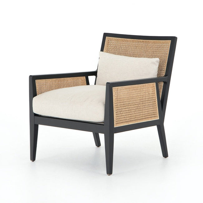 Antonia Cane Accent Chair - Brushed Ebony