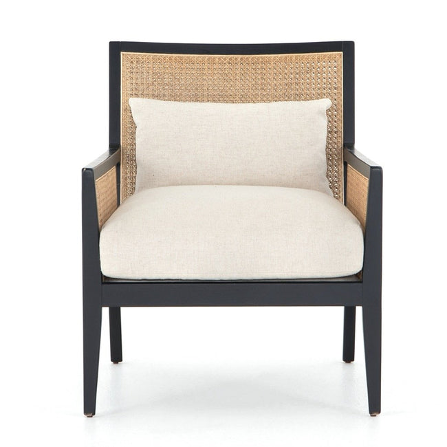 Four Hands Antonia Cane Accent Chair - Brushed Ebony