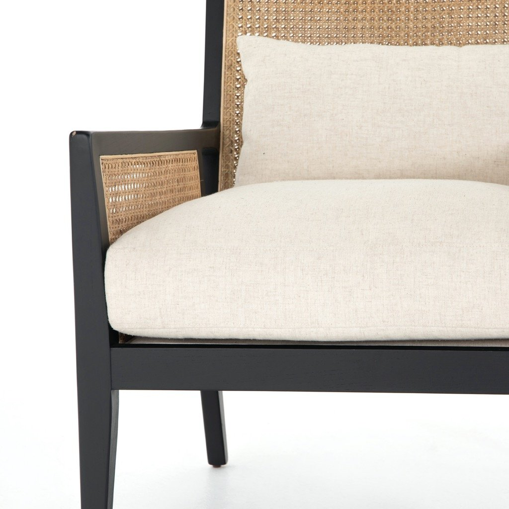 Antonia Cane Accent Chair - Brushed Ebony Detail view