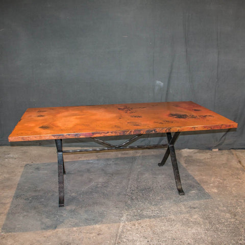 Engineer Crank Copper Dining Table