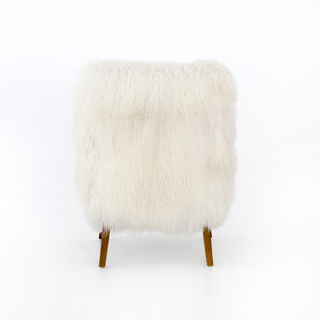Four Hands Furniture White Fur Chair Ashland