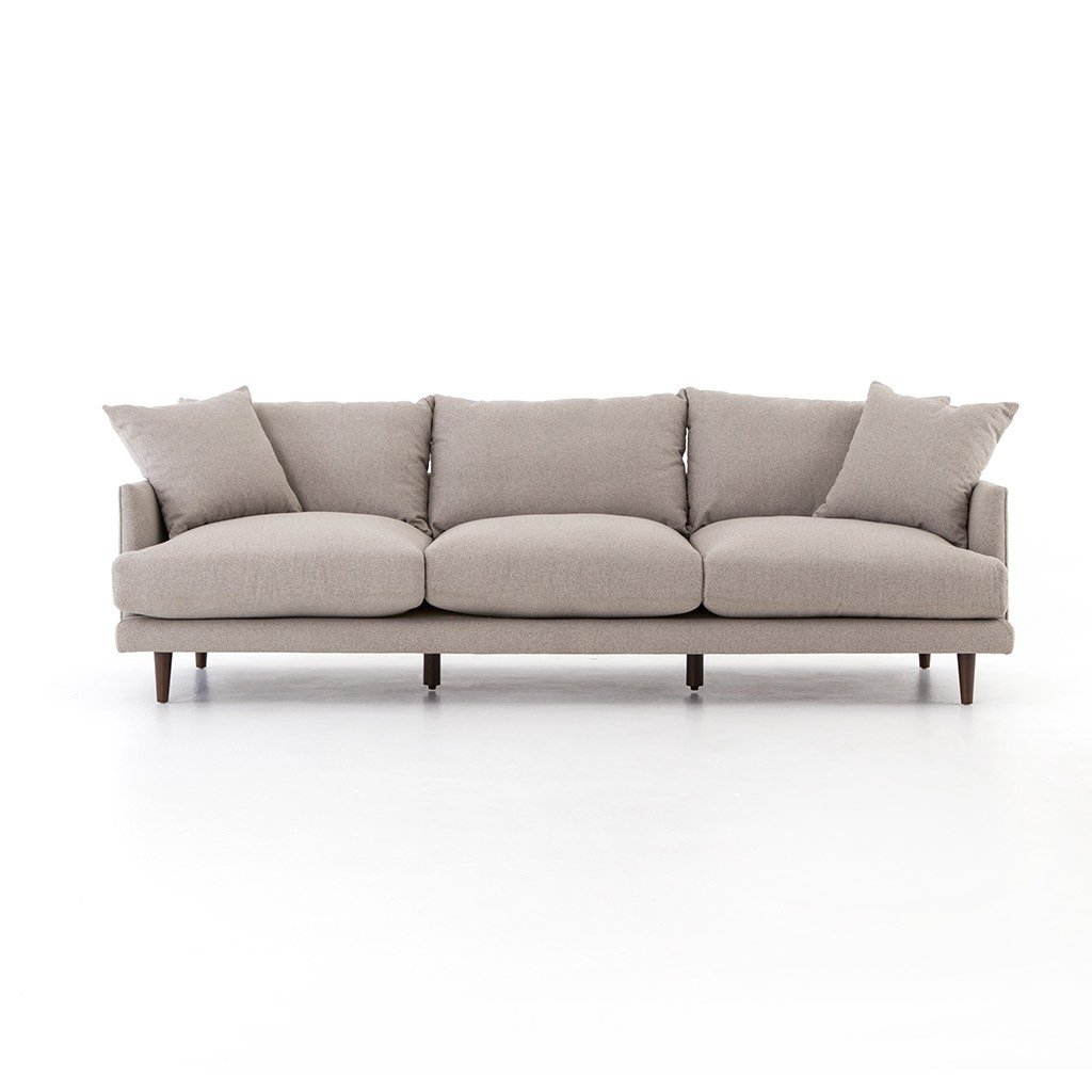 performance fabric three seat sofa