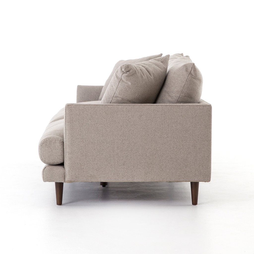 high leg upholstered sofa