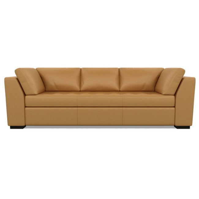 Astoria Leather Sofa Bali Butterscotch by American Leather