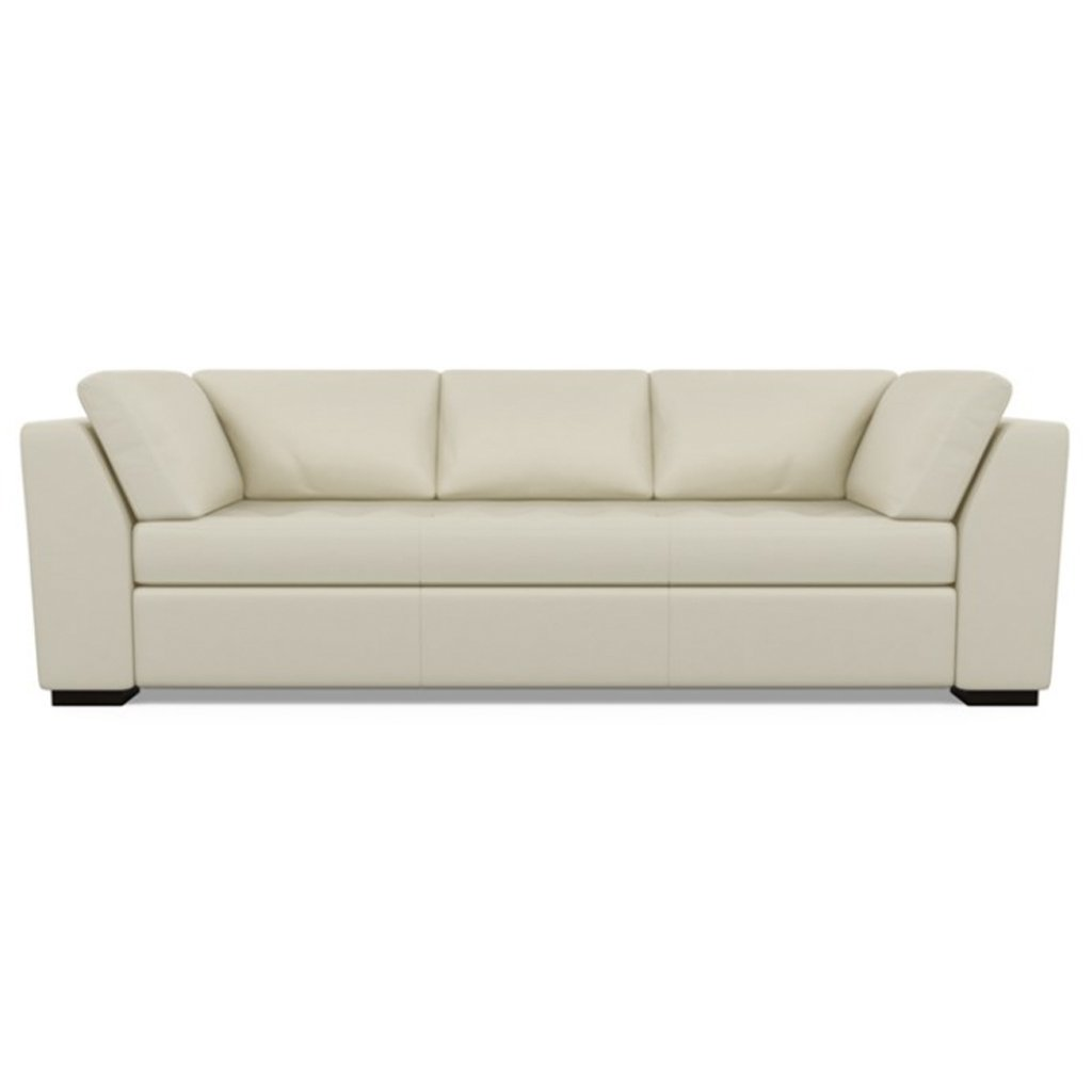 Astoria Leather Sofa Bali Cream by American Leather
