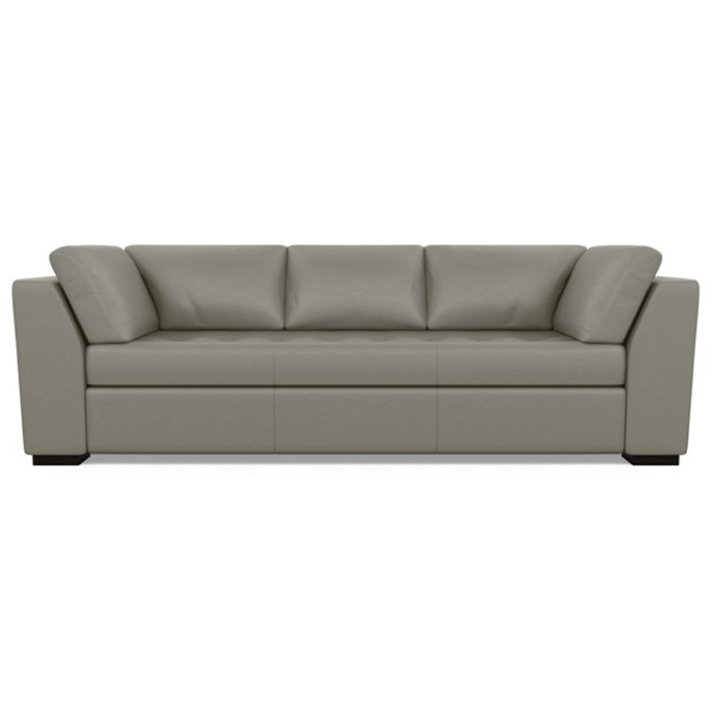 Astoria Leather Sofa Bali Gravel by American Leather
