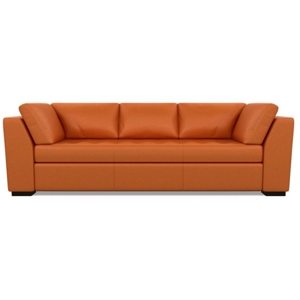 Astoria Leather Sofa Bali Marigold by American Leather