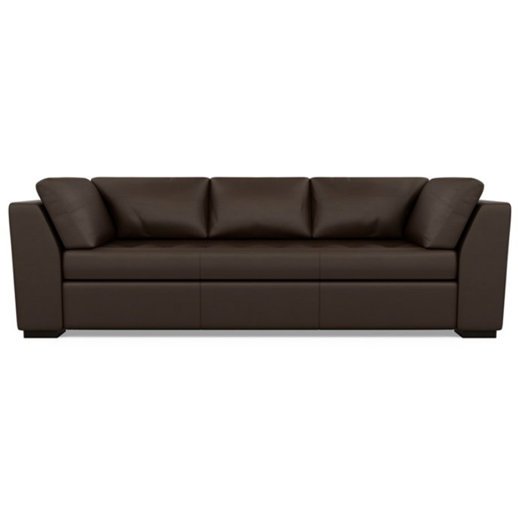 Astoria Leather Sofa Bali Mocha by American Leather