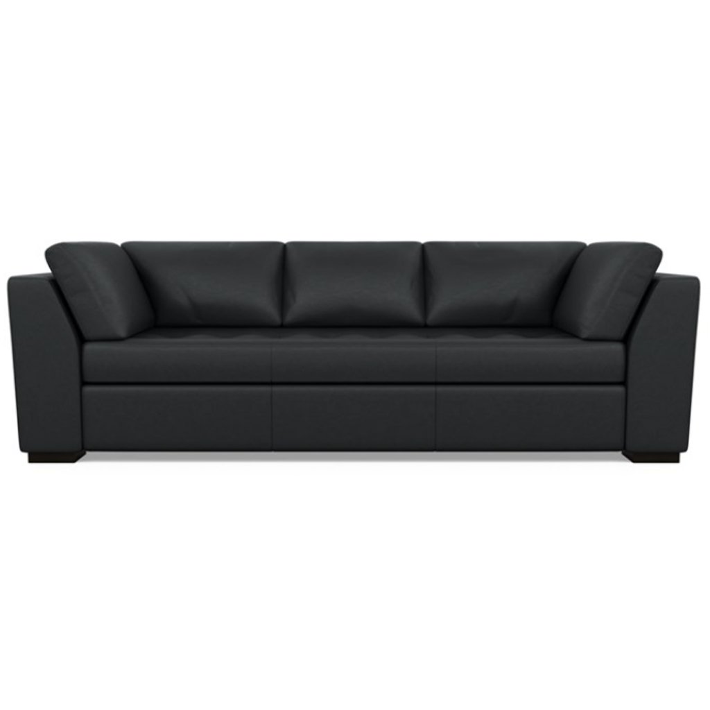 Astoria Leather Sofa Bali Onyx by American Leather