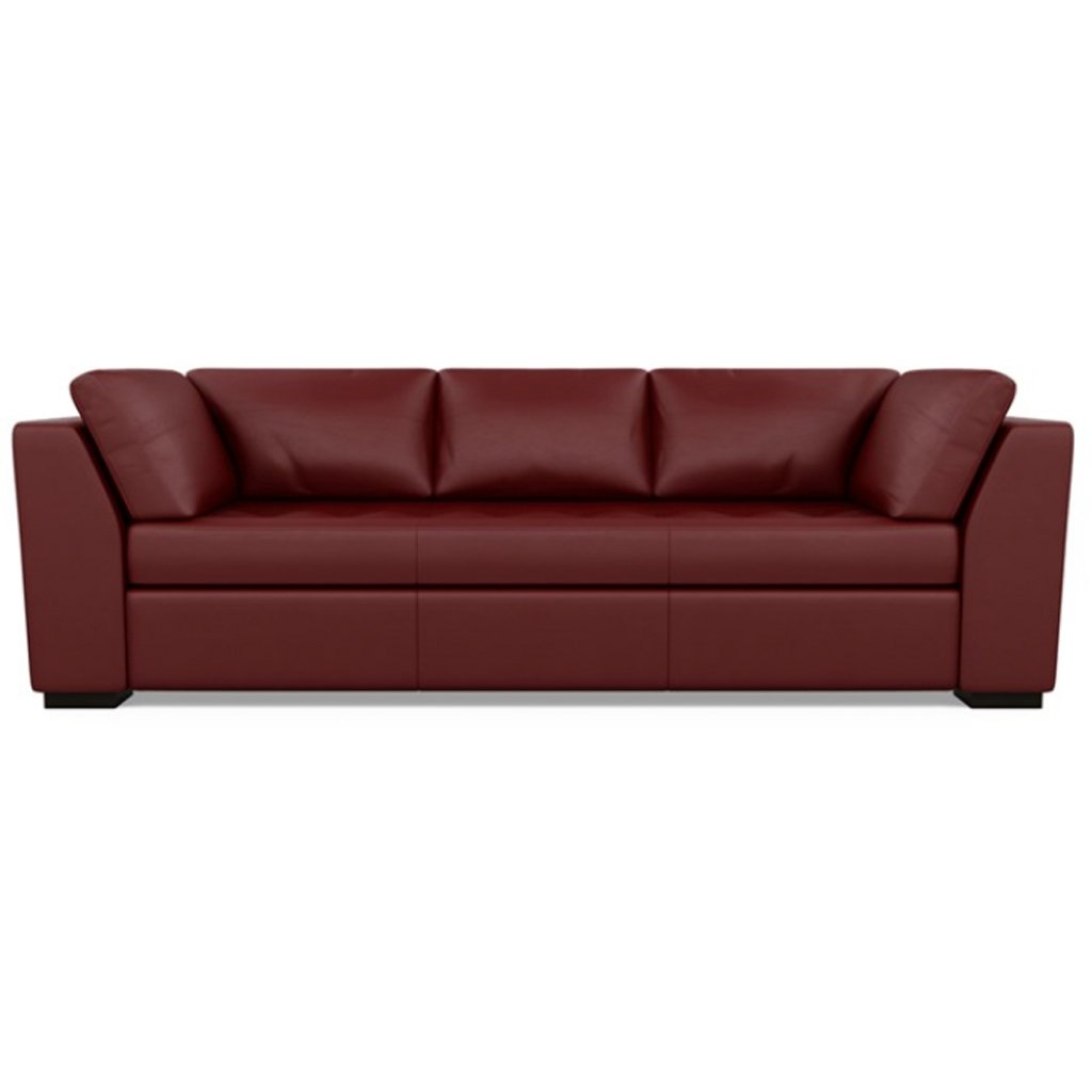 Astoria Leather Sofa Bali Red Hibiscus by American Leather