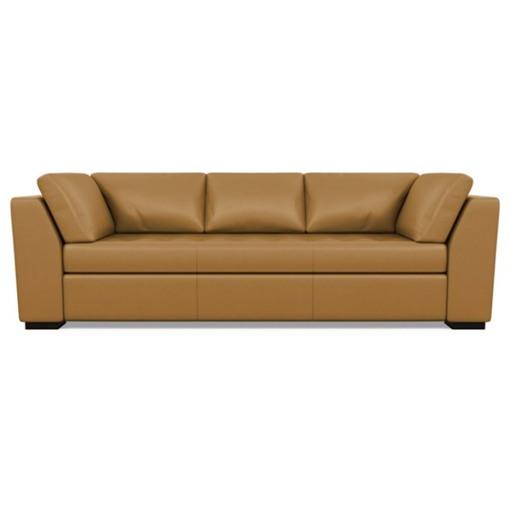 Astoria Leather Sofa Capri Butterscotch by American Leather