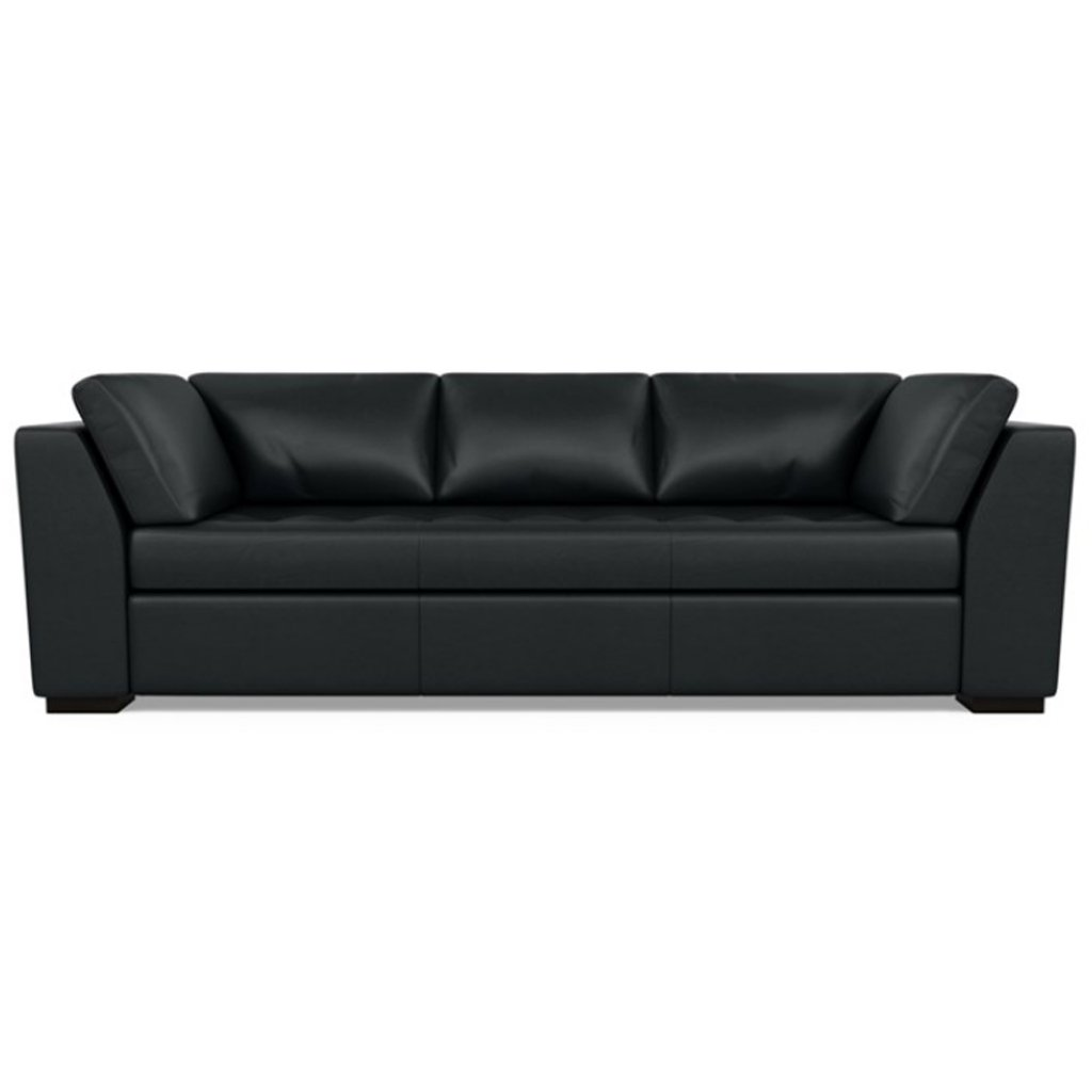 Astoria Leather Sofa Capri Onyx by American Leather