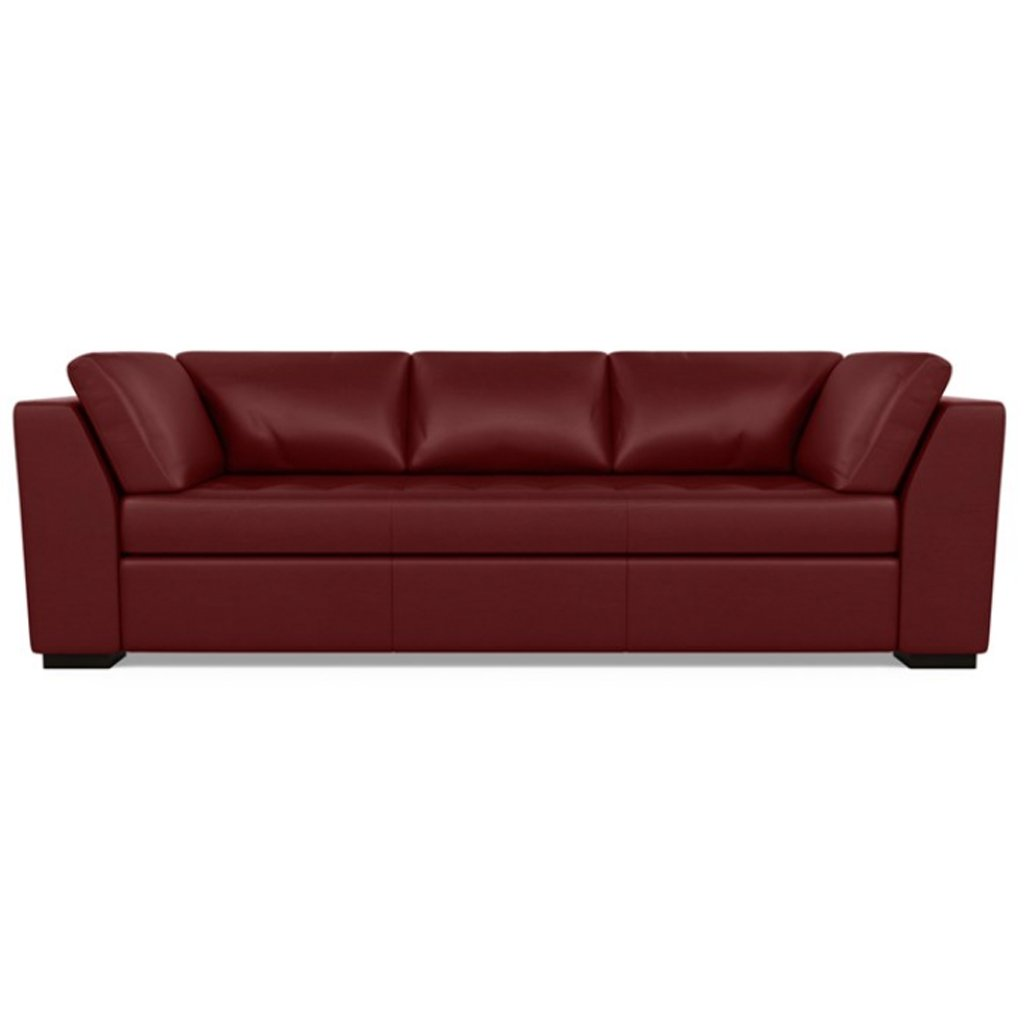 Astoria Leather Sofa Capri Poppy by American Leather