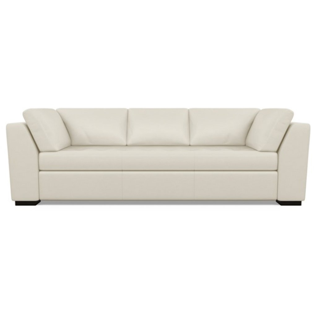 Astoria Leather Sofa Capri Sand Dollar by American Leather