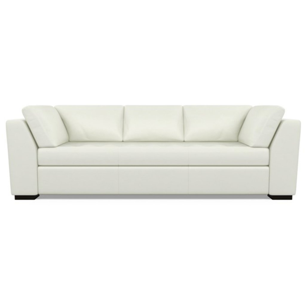 Astoria Leather Sofa Capri White by American Leather