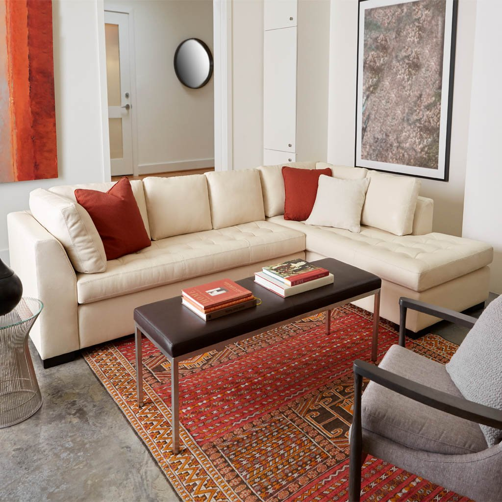Astoria Sectional Sofa by American Leather