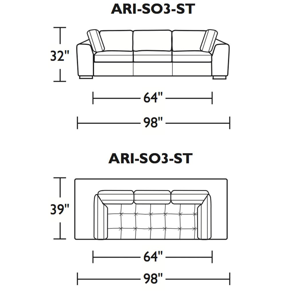 Astoria Leather Three Seat Sofa