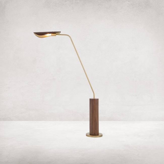 Astrid Floor Lamp - Dark Brown Leather