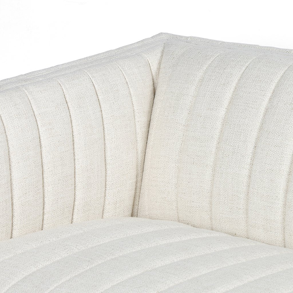 Augustine White Linen Sofa by Four Hands Seat Corner Detail