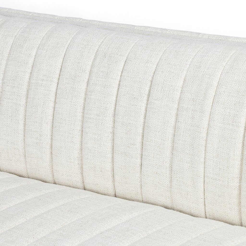 Augustine White Linen Sofa by Four Hands Channel Detail