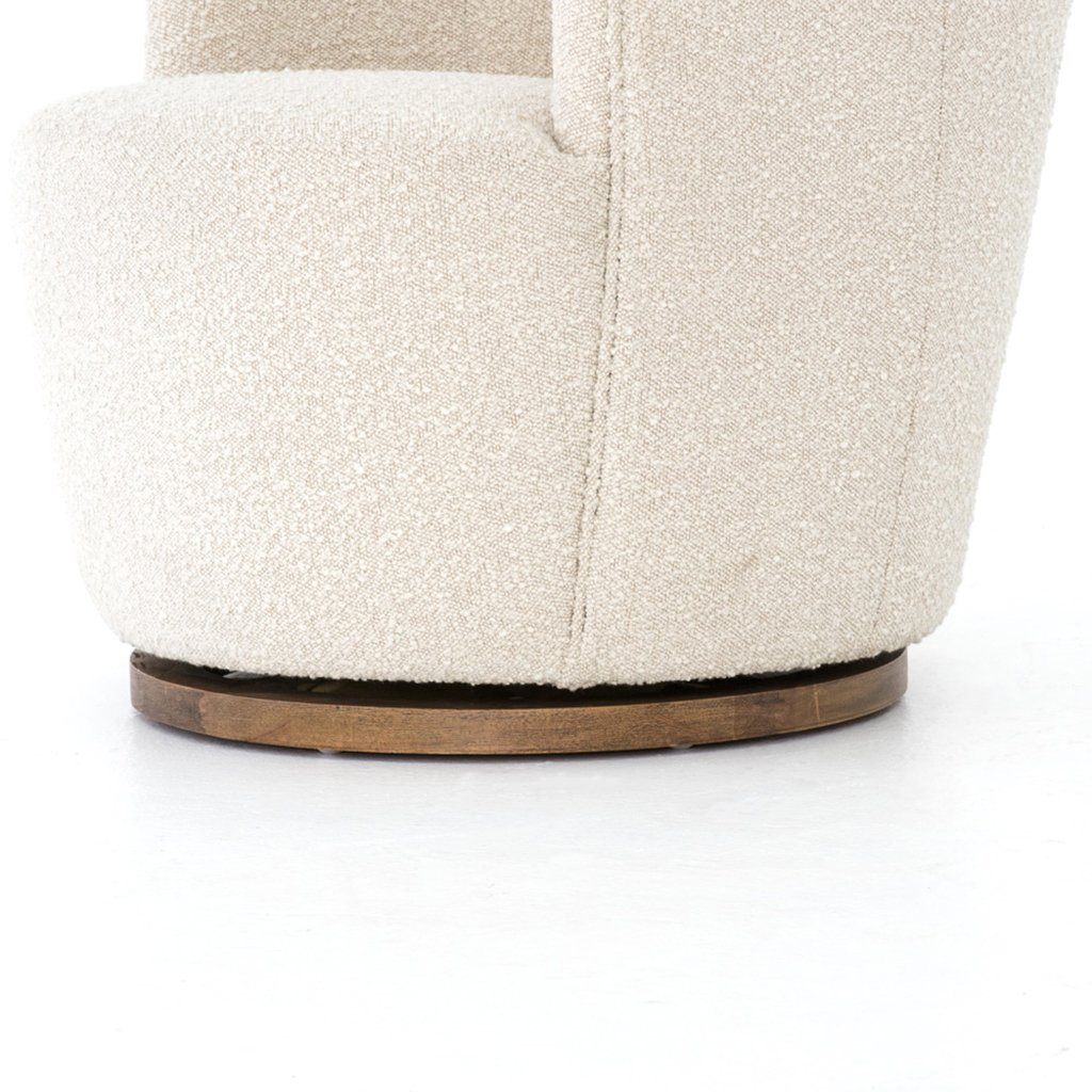 soft boucle fabric chair