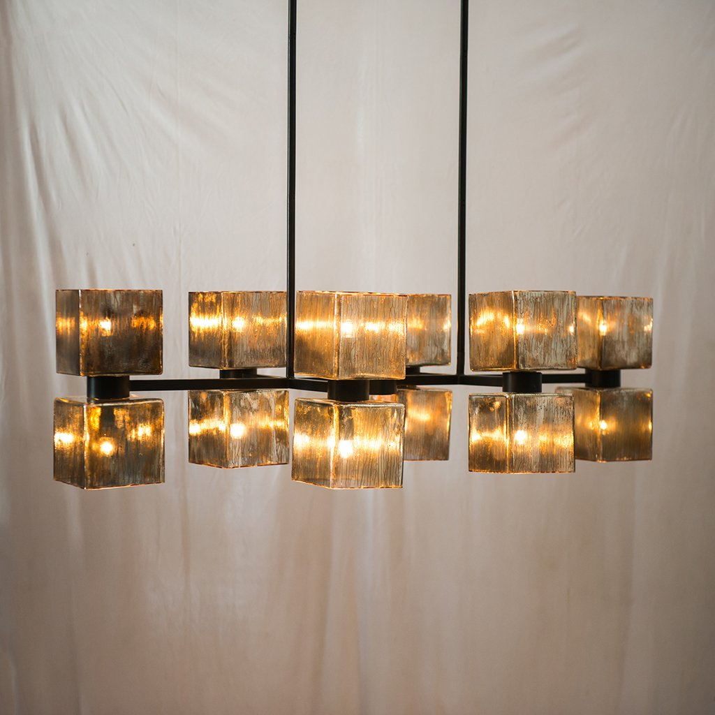 Ava Handblown Glass Linear Chandelier Four Hands IHTN-061