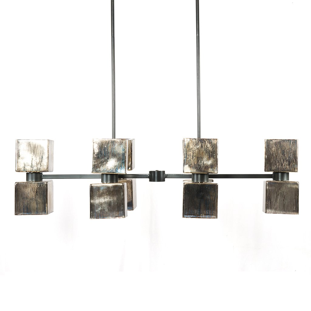 Ava Handblown Glass Linear Chandelier Four Hands Side View