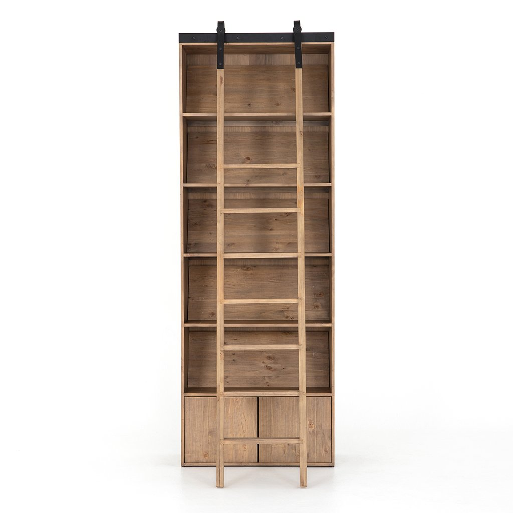Bane Bookshelf with Ladder Front View