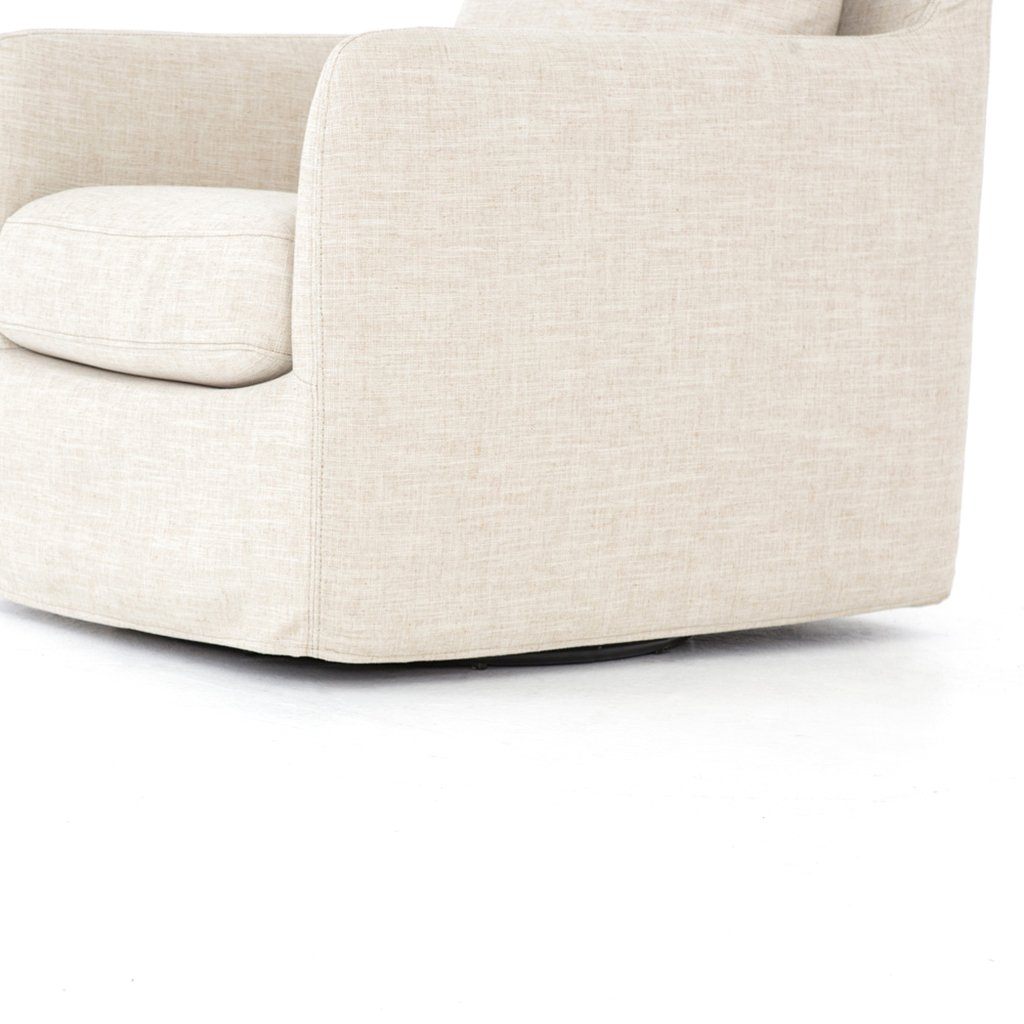 Banks Swivel Chair - Cambric Ivory CKEN-H6-087P Corner Profile