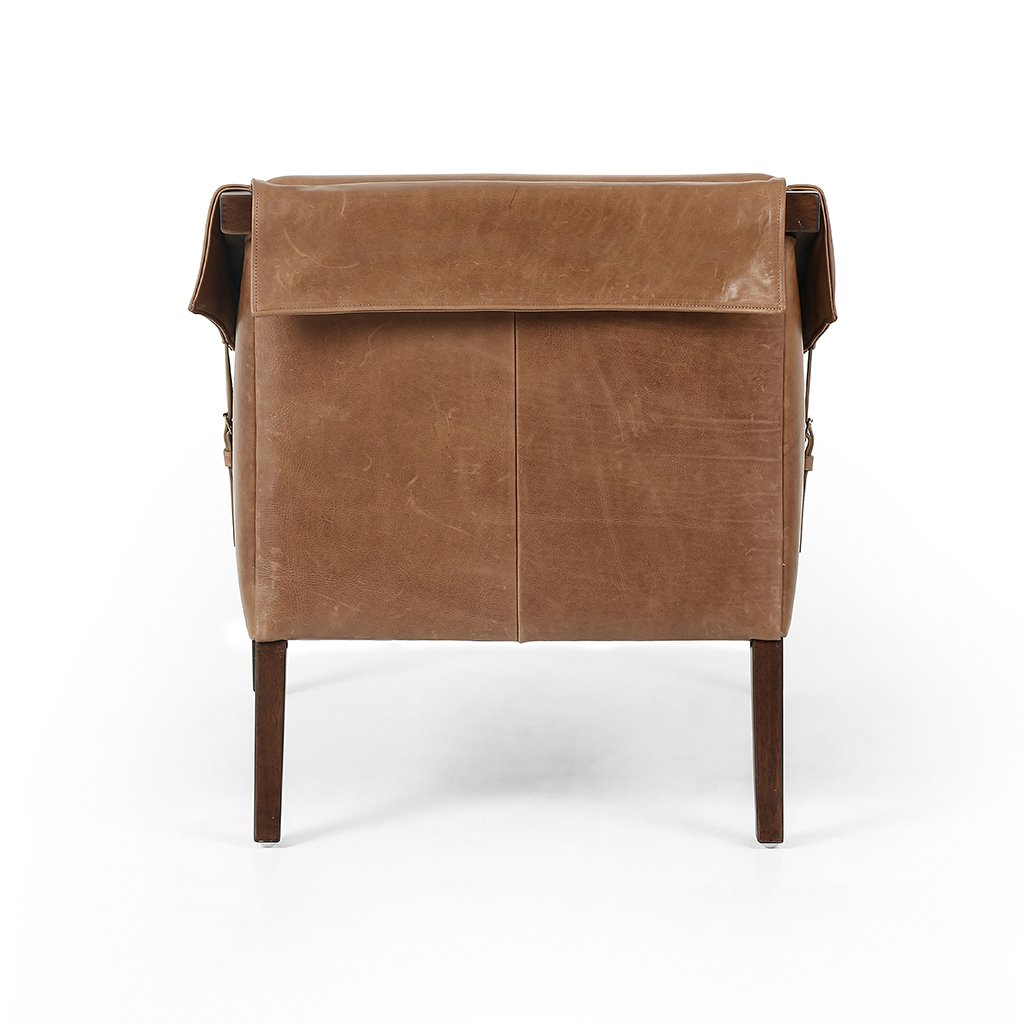 leathe chair with buckles