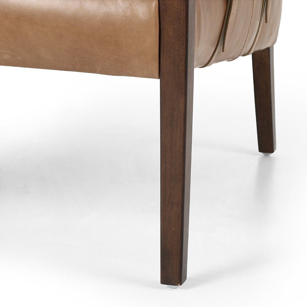 Bauer Leather Chair - Warm Taupe Dakota CABT-113Y-208