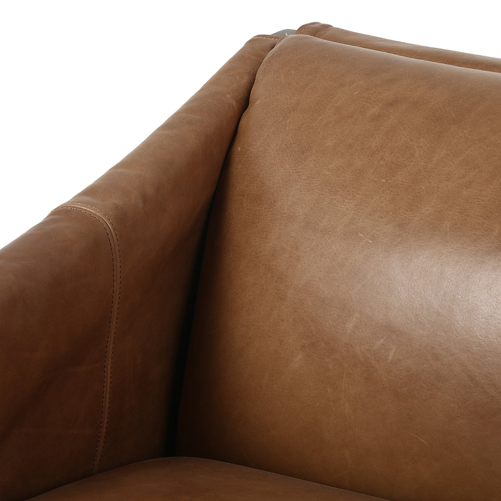 leather chair with buckles
