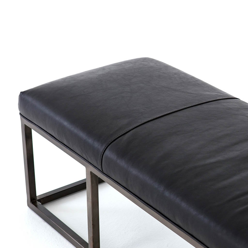 Beaumont Leather Bench CKEN-147A8-396 Rider Black