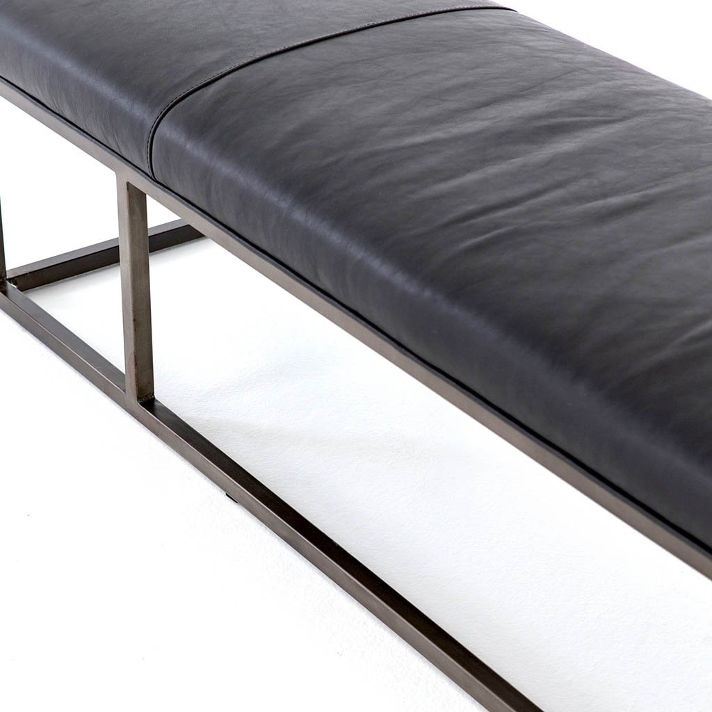 contemporary entryway bench black