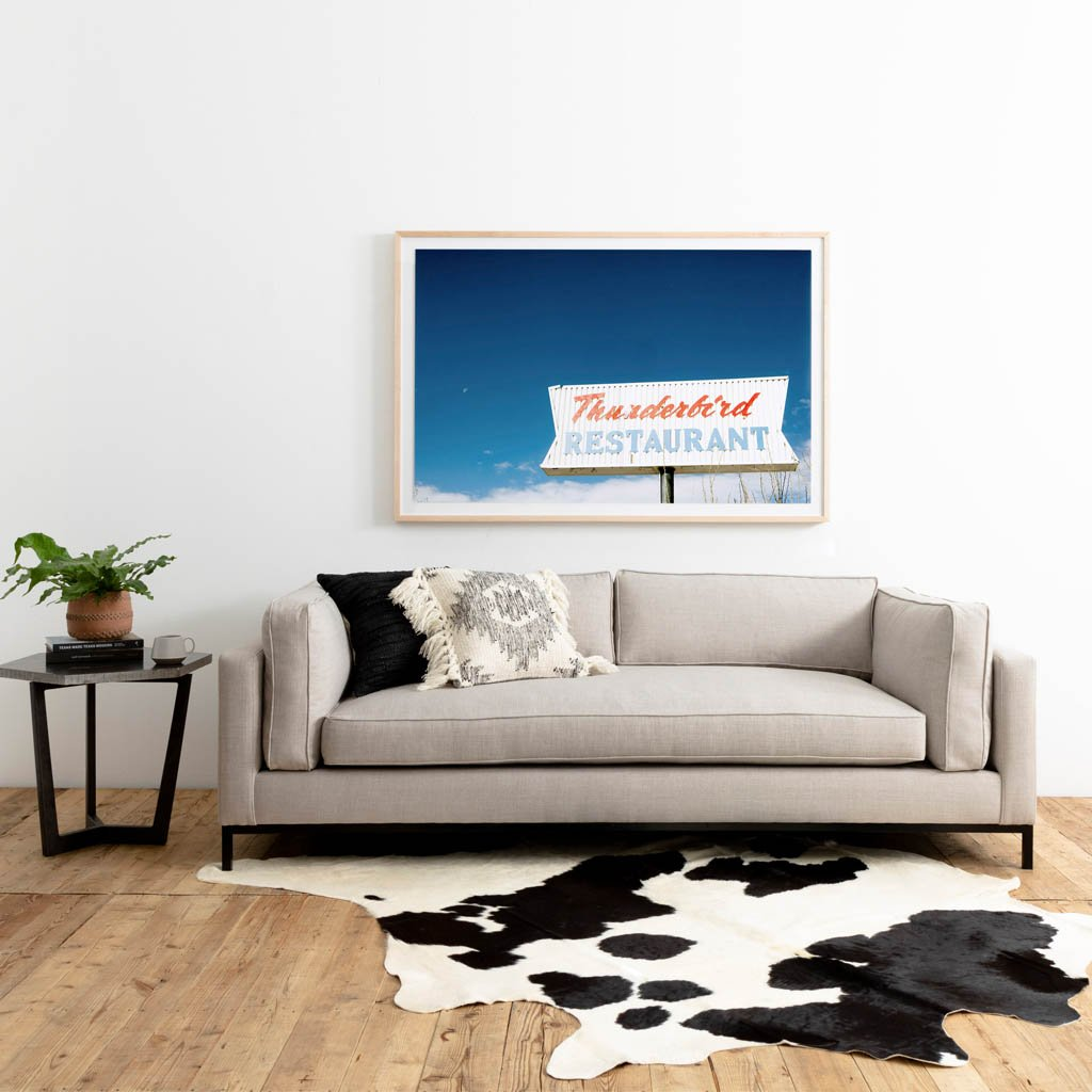 Four hands Black and White Cowhide Rug