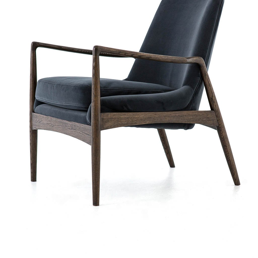 Braden Chair - Modern Velvet Shadow