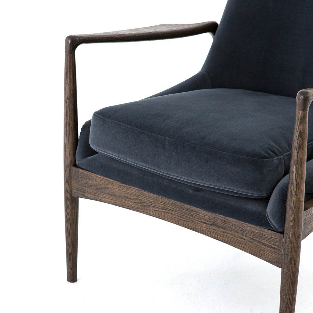 Four hands Braden Chair - Modern Velvet Shadow
