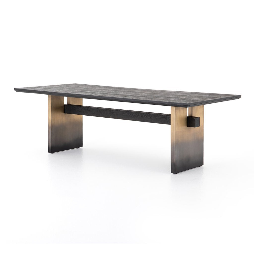 Brennan Black Oak Dining Table IFAL-078 Four Hands Furniture