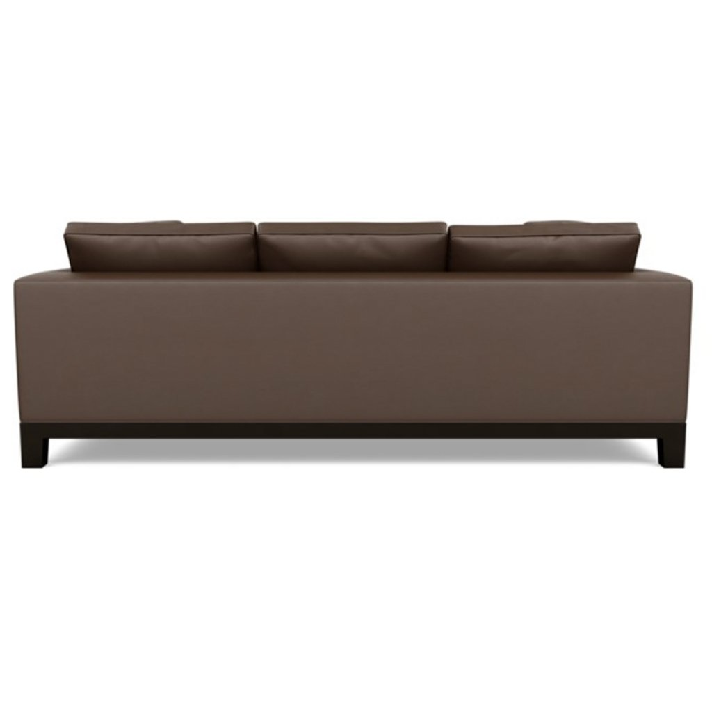 Brooke Leather Three Seat Sofa Back View