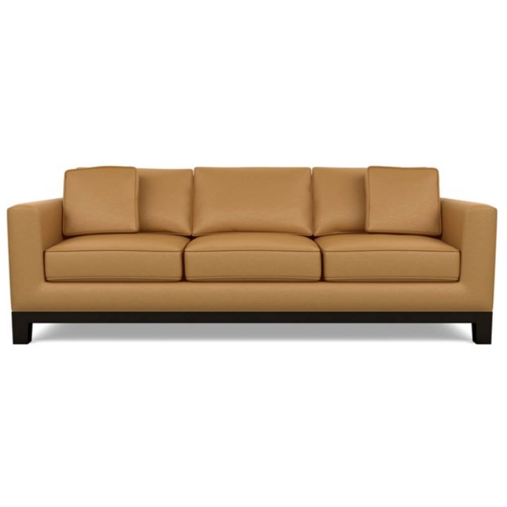 Brooke Leather Sofa by American Leather Bali Butterscotch
