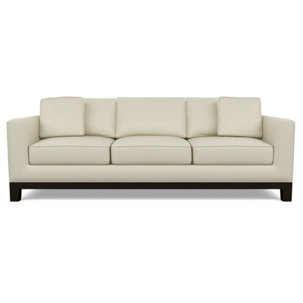 Brooke Leather Sofa by American Leather Bali Cream