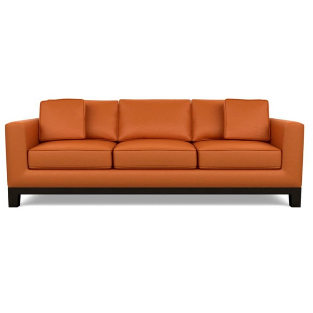 Brooke Leather Sofa by American Leather Bali Marigold