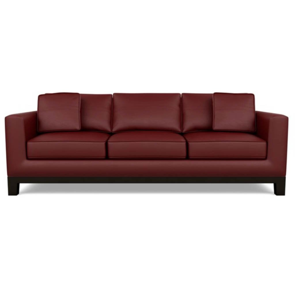 Brooke Leather Sofa by American Leather Bali Red Hibiscus